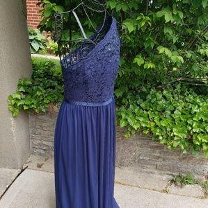 Davids Bridal one shouldered bridesmaids dress